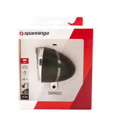 spanninga Swingo XB Éclairage avant fonctionnant sur piles, black